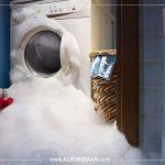 عدم تخلیه ماشین لباسشویی