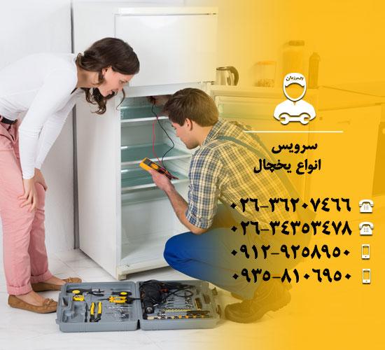 سرویس انواع یخچال با البرزبان